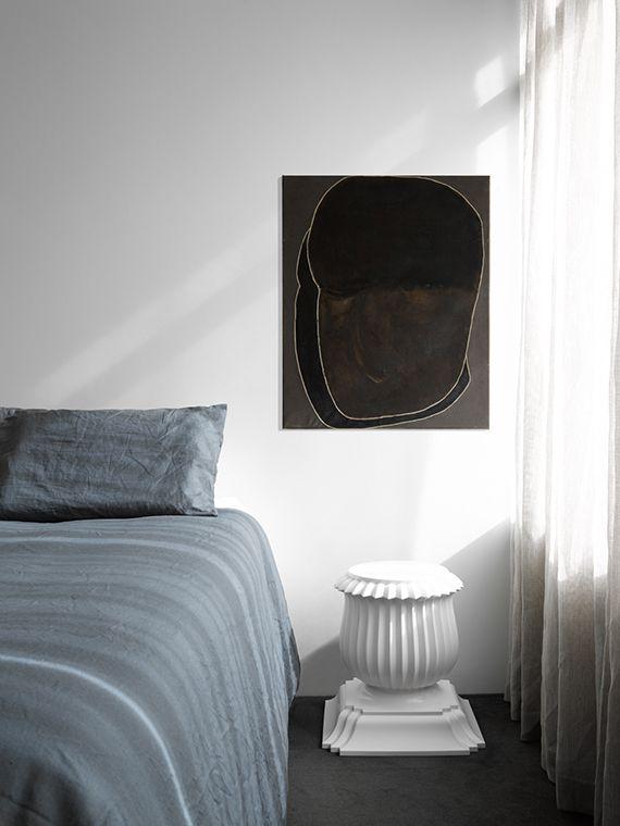 Schlafzimmer modern Kunst Skulptur weiß