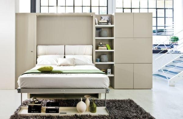 Schrankbett Zusatzmöbel platzsparend modern