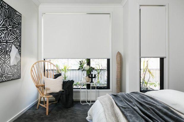 Sichtschutz Rollos minimalistisch weiß