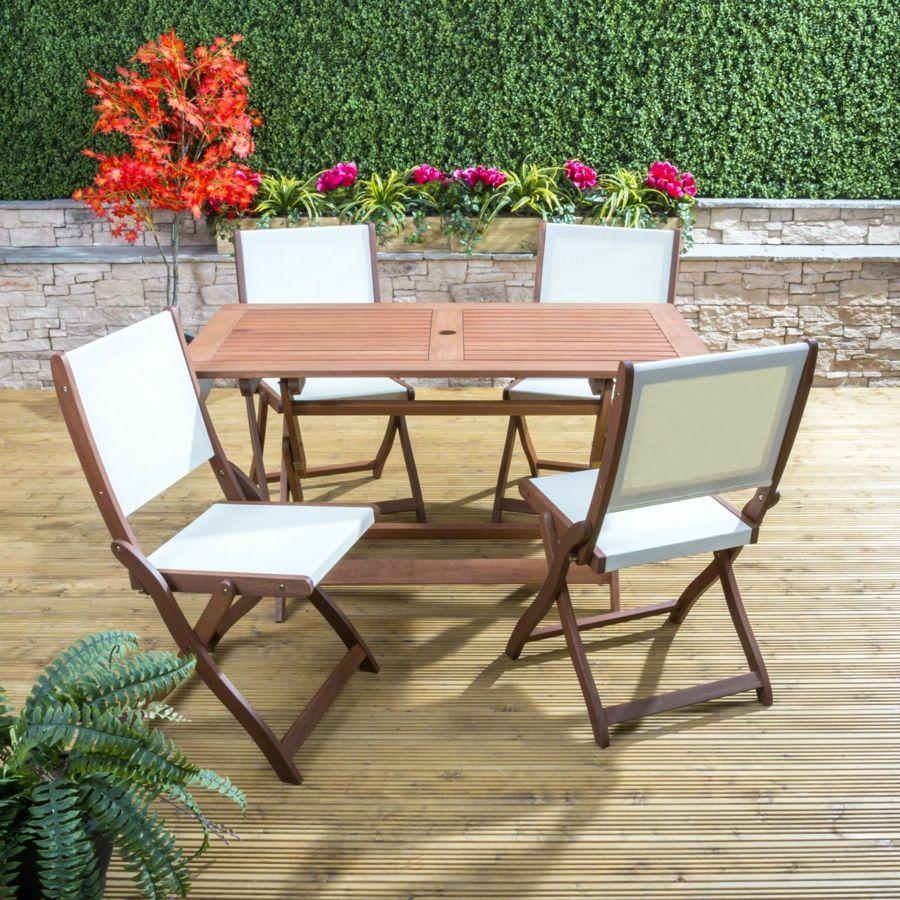 Sitzgruppe Garteneinrichtung Holz Textil Rücklehne