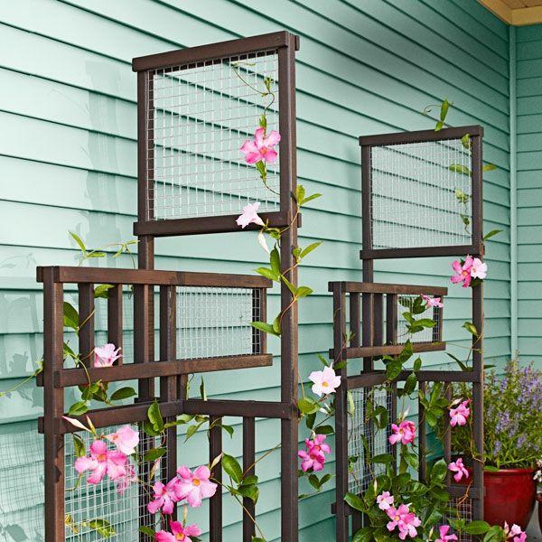 Spalier aus Holz für Terrasse, Balkon oder Garten