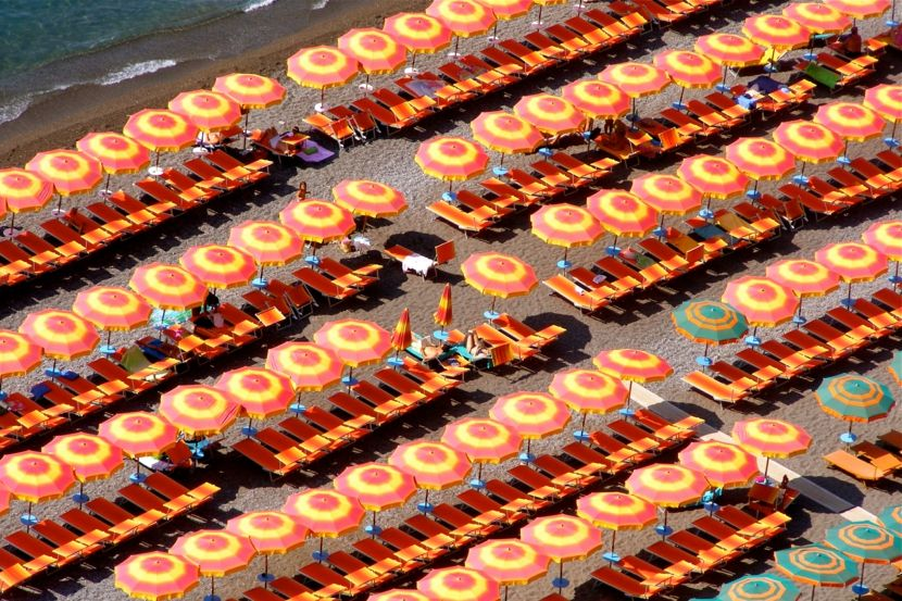Strand Amalfi Orange Sonnenschirm