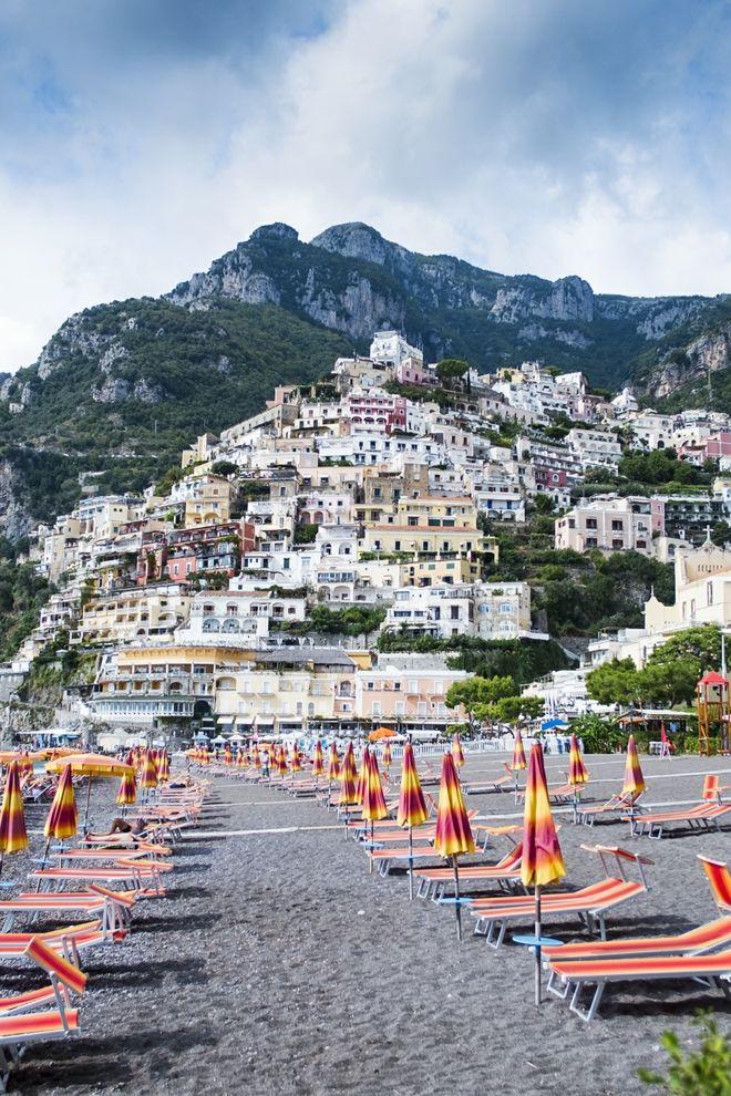 Strand Aufnahme Positano Italien
