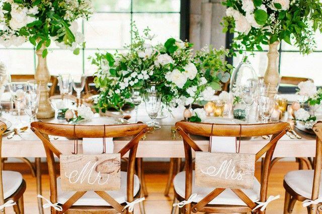 Tischgestaltung Hochzeit kunstvoll Shabby Chic