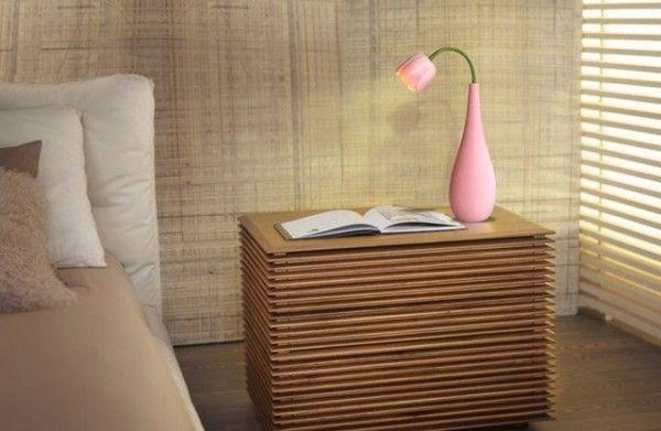 Tischvase Pastell Rosa Tropfenform Tulpenform