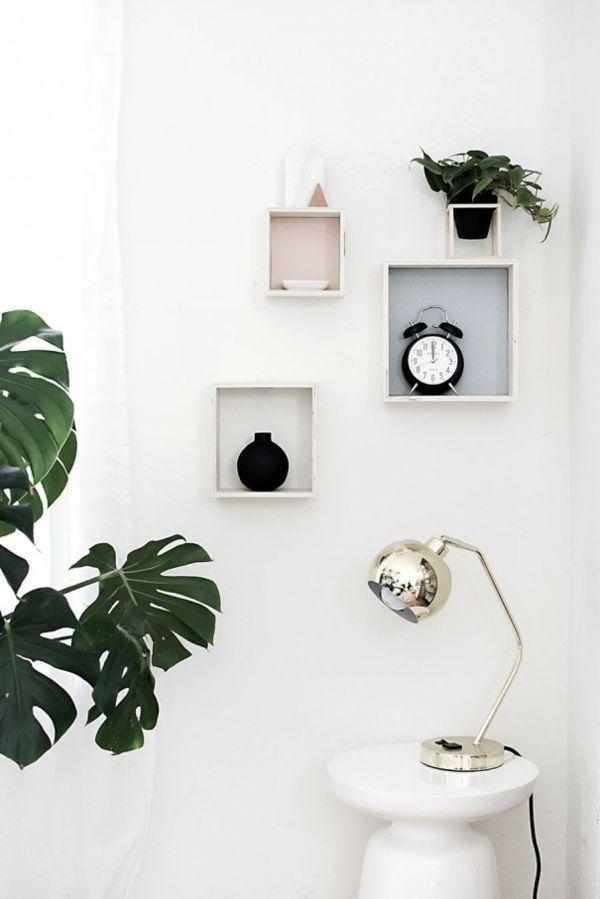 Würfel Regal Holz minimalistisch DIY