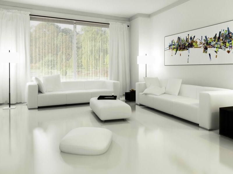 WEiß Auf Weiß Im Wohnzimmer