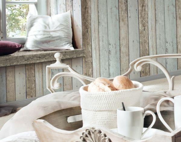 Wandbekleidung Holzoptik Vintage naturbelassen abgetönt hellgrau