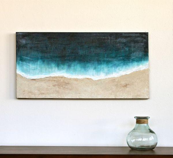 Wanddekoration Wandbild modern Meer Strand
