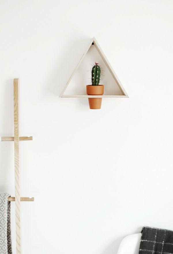 Wandregal Pflanzenhalter Dreieck DIY