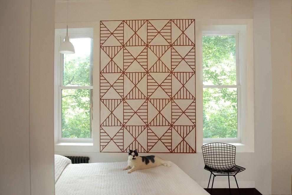 Wandtattoo geometrisch Muster bordeaux