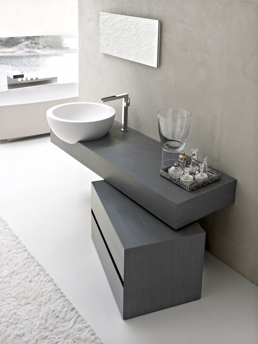Waschbecken rund weiß Keramik ungewöhnlich Waschtisch