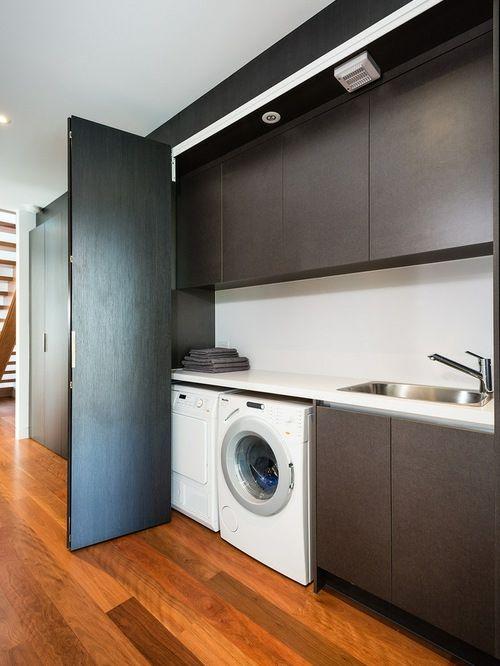Waschküche Kirschbaum Parkett Falttüren