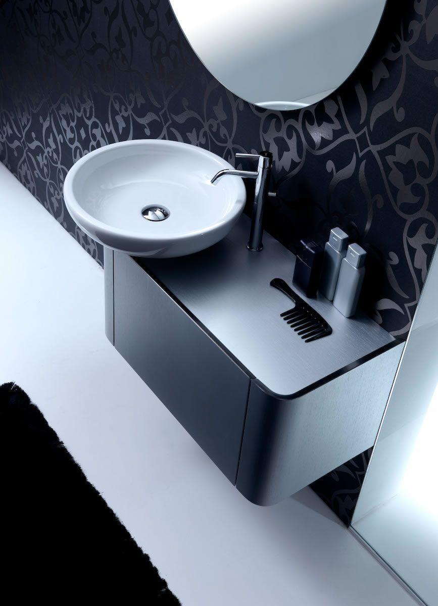 Waschtischarmatur Waschbecken weiß Waschtisch dunkelgrau
