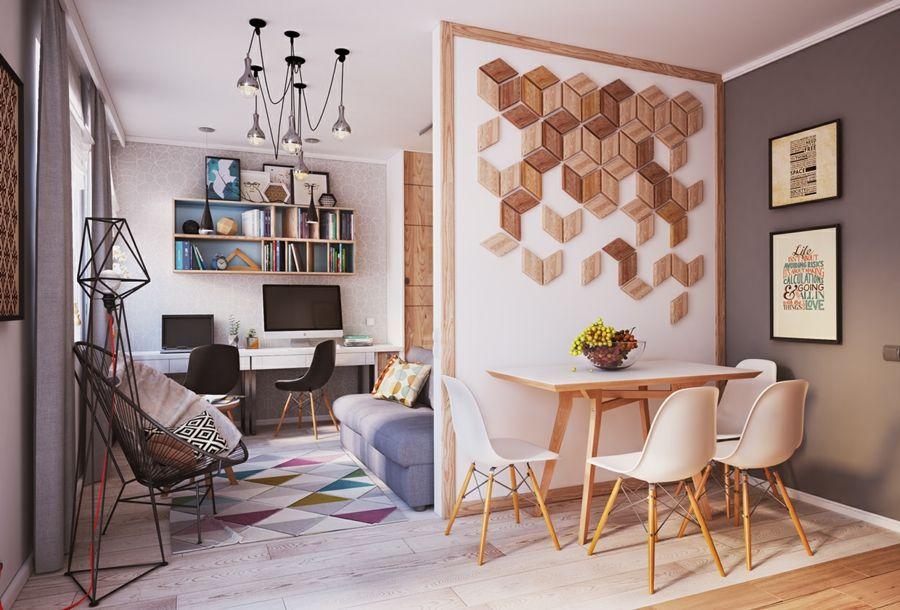 Wohnraum wenig Mittel auffrischen Tipps
