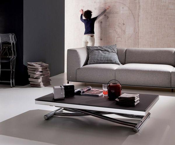 Wohnzimmer Couchtisch Glas Designer modern