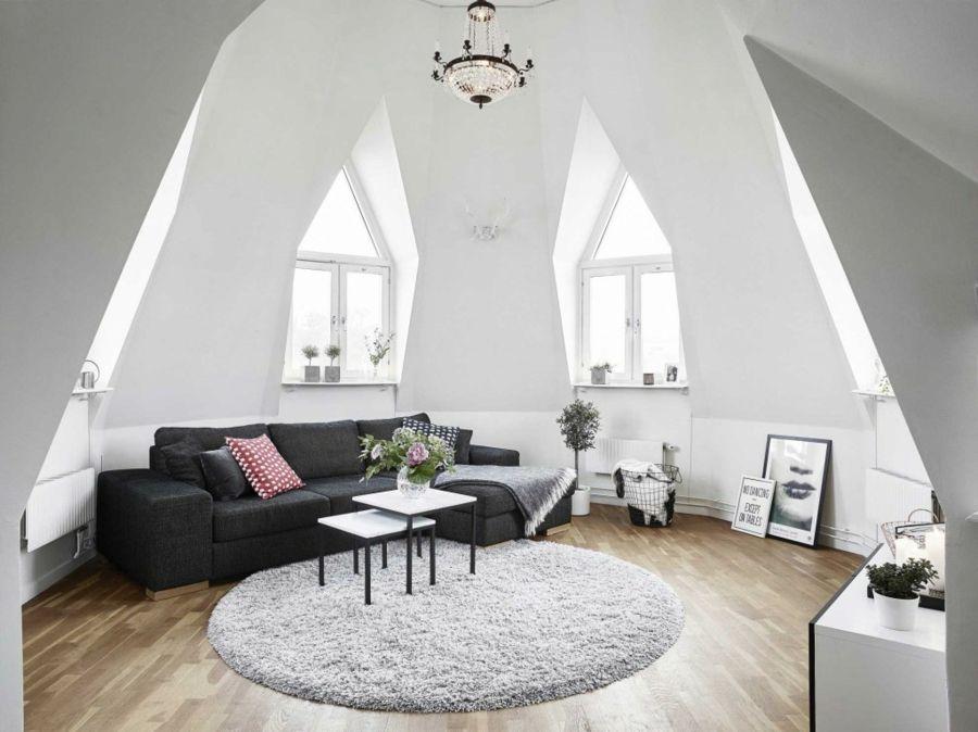 wohnzimmer boden trend:Gestaltung eines Wohnzimmers mit Dachschrägen – Trendomat.com