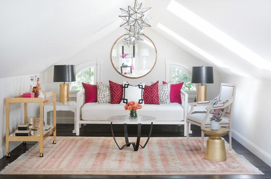 Gestaltung eines Wohnzimmers mit Dachschrägen - Trendomat.com
