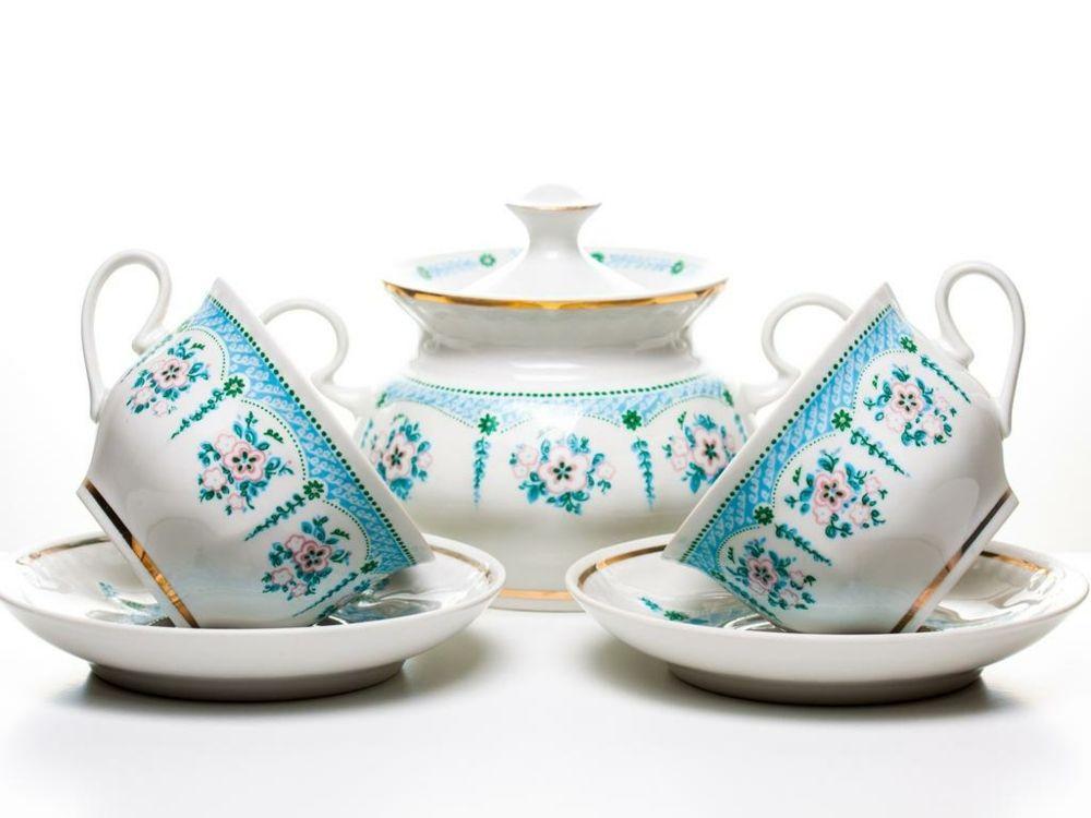 Anlass festlich Porzellan Tee Tassen handbemalt