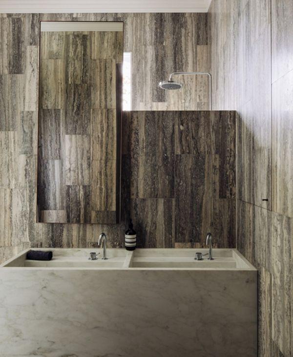 Bad gehoben Marmor Waschbecken