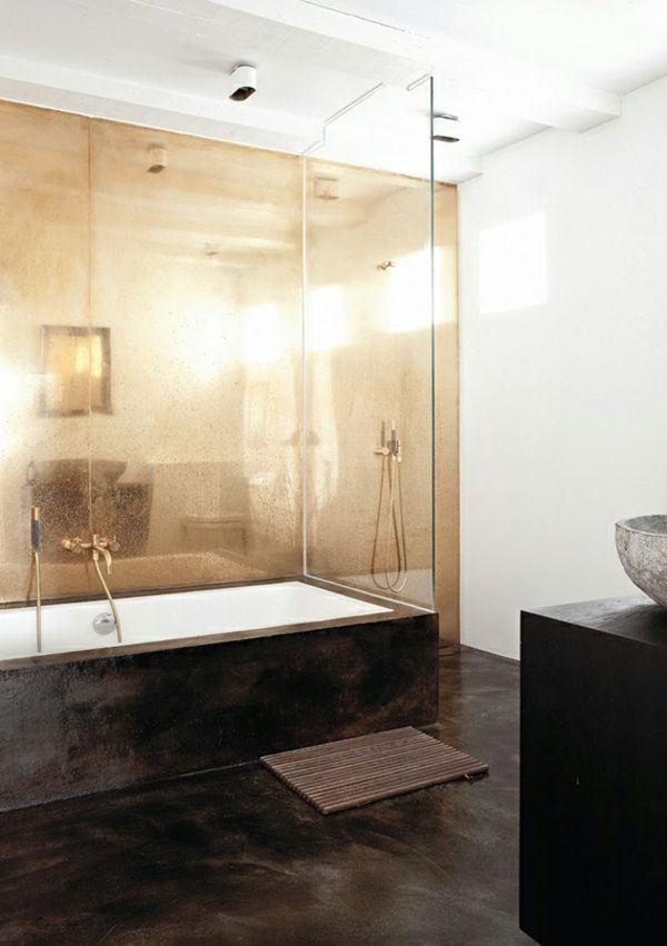 Badezimmer Wannenverkleidung Boden einheitlich