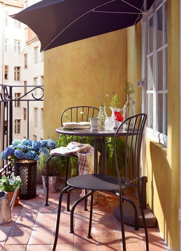 Balkongestaltung Eisen Balkon Möbel wetterbeständig