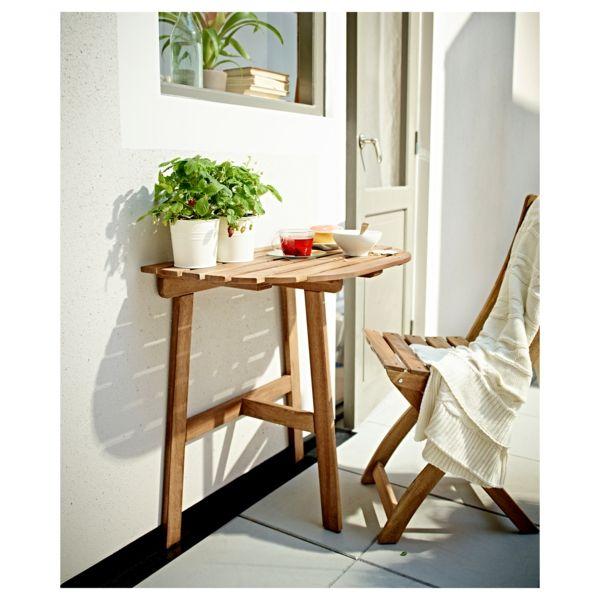 Good Balkonnutzung Akazienholz Tisch Halbrund Ikea