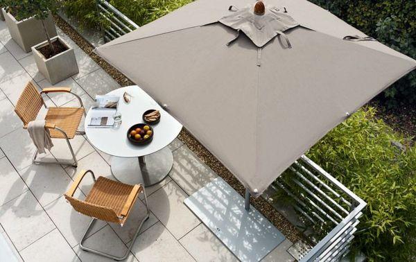 Balkonschirm recheckig Sichtschutz modern