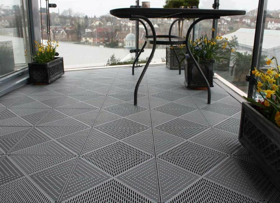 Bodenbelag Fliesen Polypropylen Außenbereich Terrasse