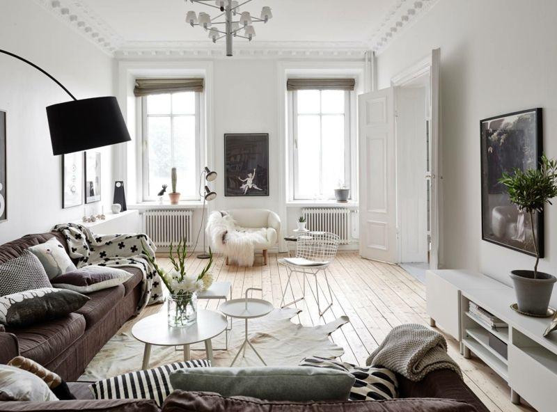 Cocooning Ambiente im Wohnzimmer