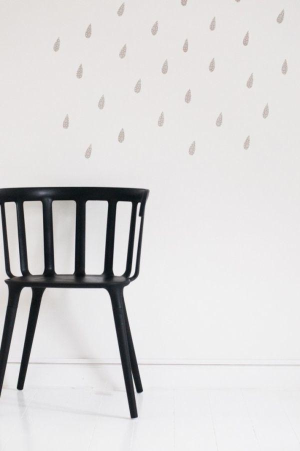 DIY Regentropfen minimalistisch Wandgestaltung