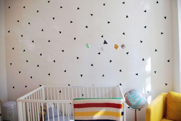 DIY Schwarz Dreiecke Wand Aufkleber