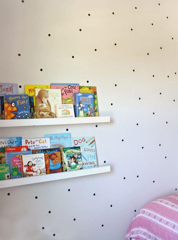 DIY schwarz Punkte minimalistisch Kinderzimmer Design
