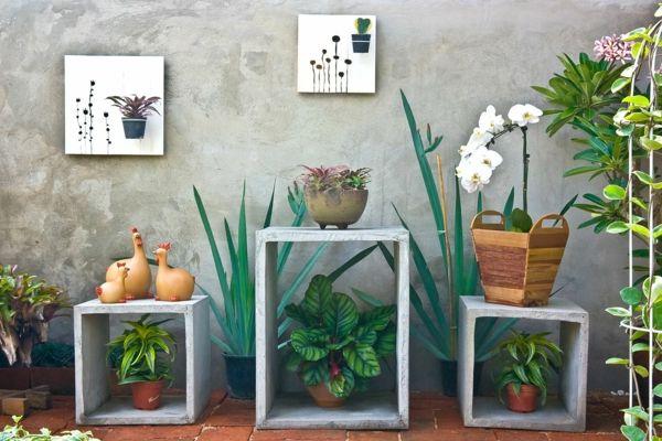 Design mit Pflanzen auf Balkon oder Terrasse lässt viel freier Raum zum kreativ sein-deko ideen für balkon terrasse