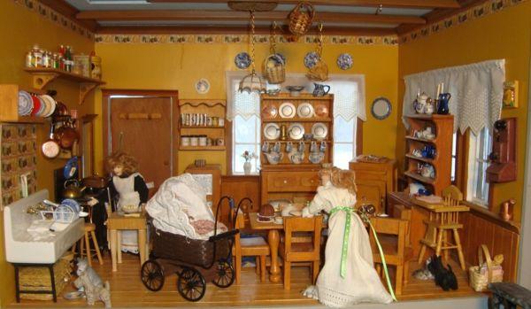 Ein viktorianisches Puppenhaus