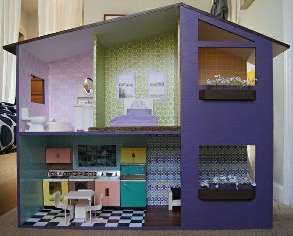 Eine originelle Idee für ein Puppenhaus aus Holz