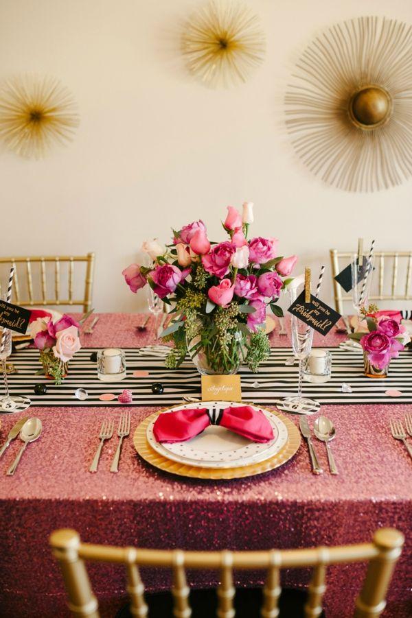 Elegant Abendessen Hochzeit Junggesellinnenabschied
