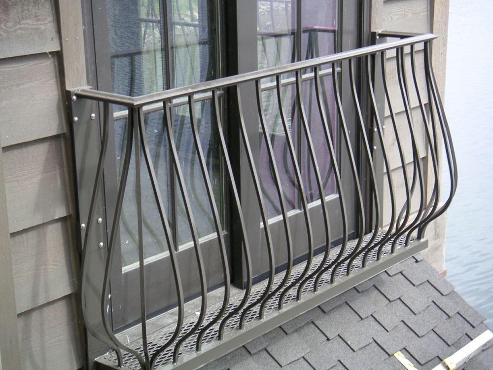 Französisch Balkon Fenster Gitter Edelstahl gebogen