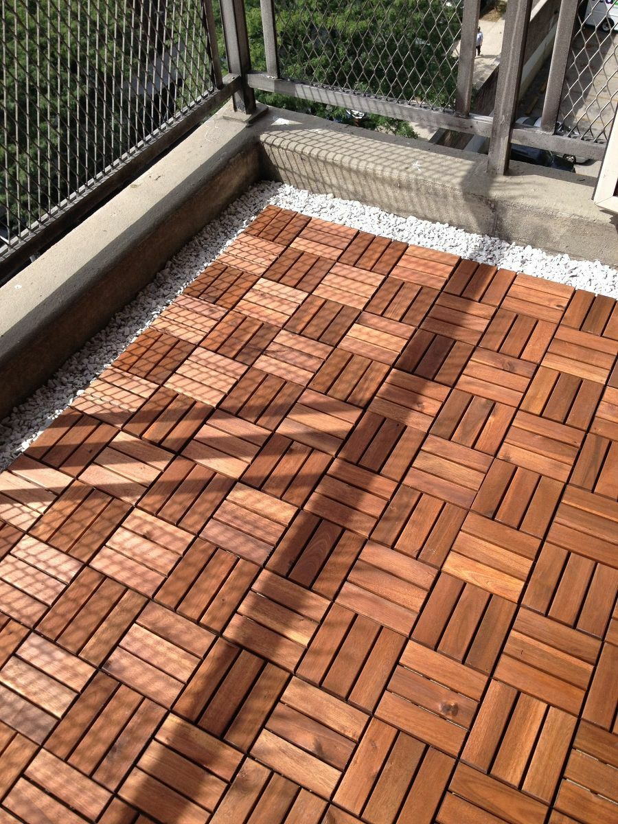 Fußbodenrost Holzoptik Ikea Balkon Lösung