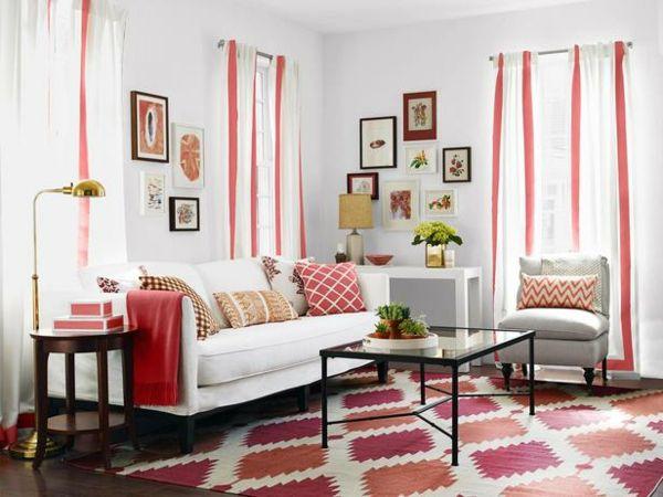 Gardinen und Vorhängen sind oft ein unerlässliches Dekoelement bei der Wohngestaltung