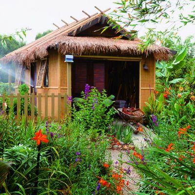 Gartenhaus tropisch Outdoor Stauraum Gartenwerkzeuge