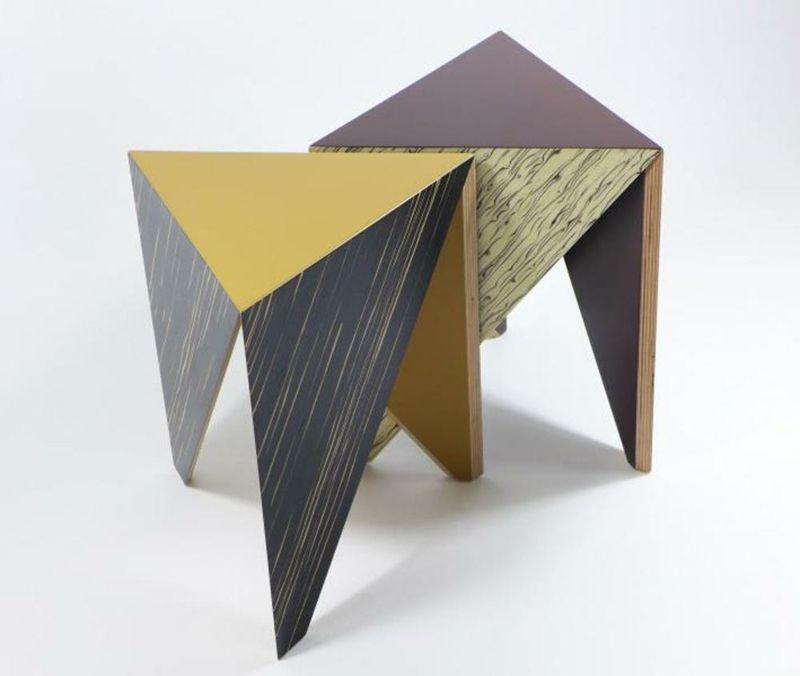 Hocker Beistelltisch ausgefallen geometrisch Form
