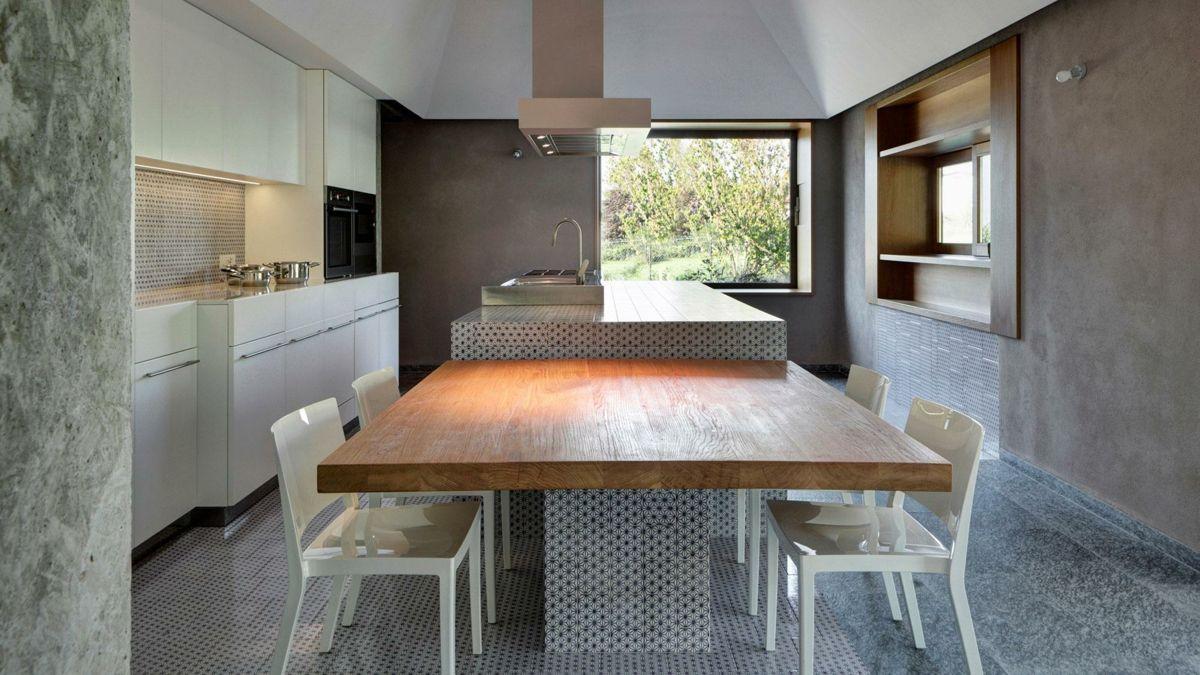 Innovativ Kücheninsel angrenzend Esstisch