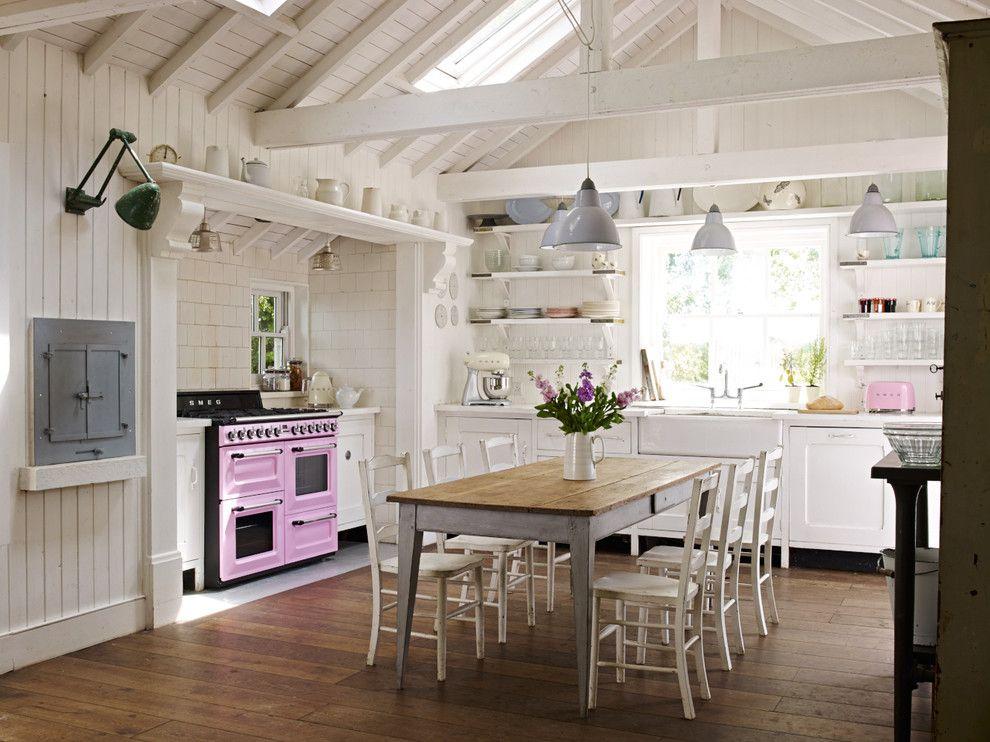 Küche einrichten Landhausstil mit Retro Elementen