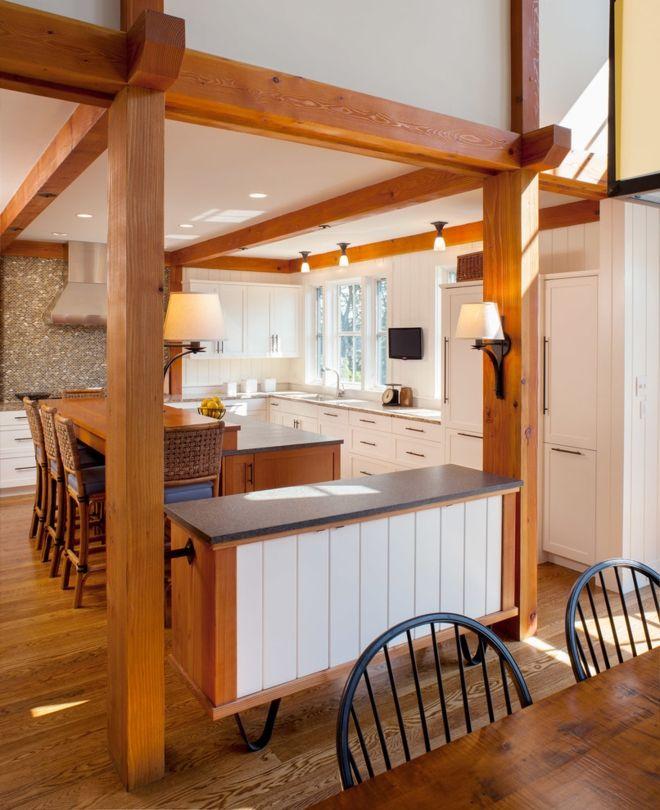 Küche rustikal ländlich gemütlich Holzbalken