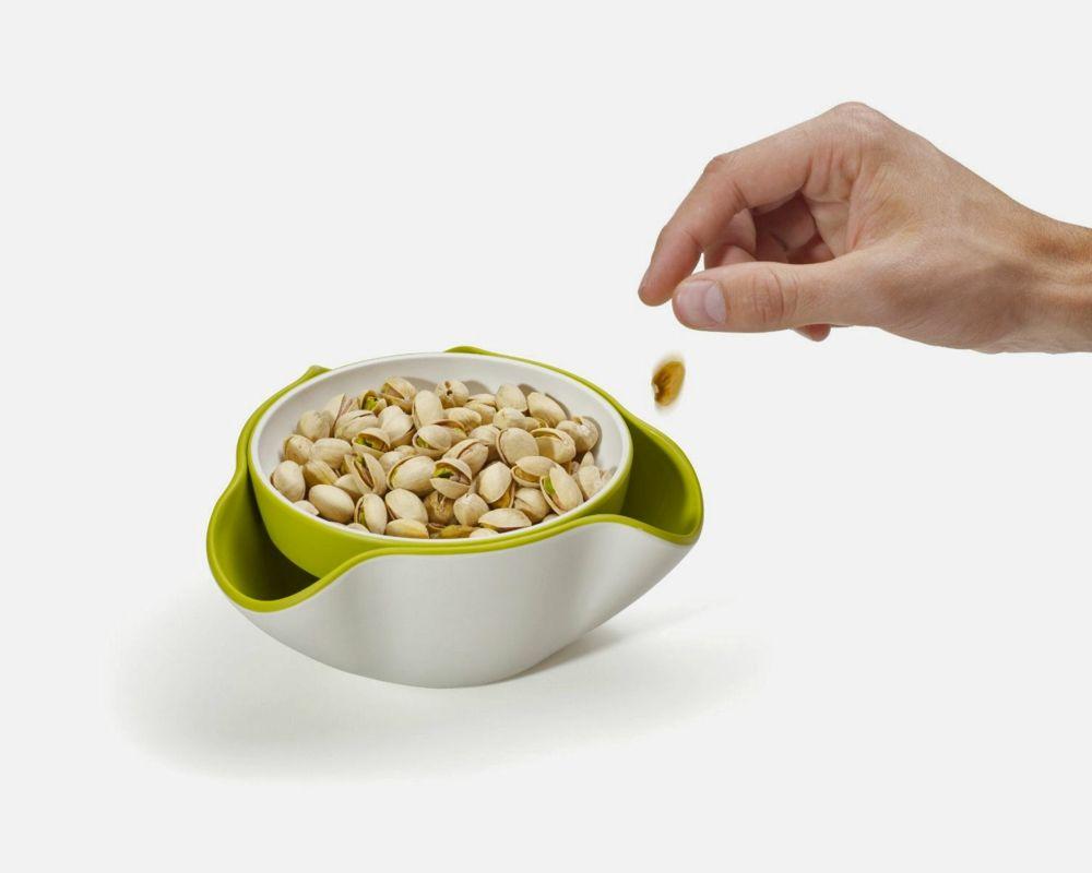 Küchenutensilien Servierschale Nüsse Oliven