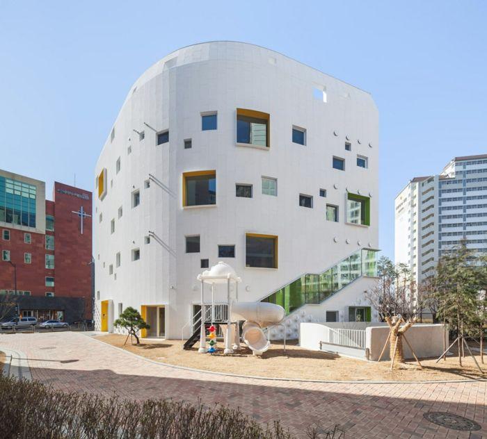 Kindergarten Bildungseinrichtung Design innovativ Südkorea