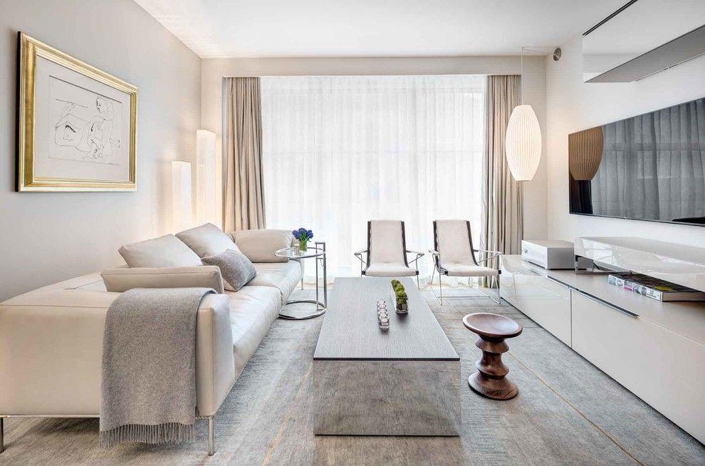 Kleines Wohnzimmer minimalistisch Weiß modern