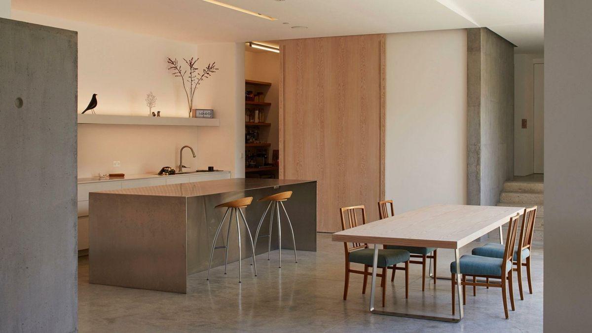 Kochinsel Metall Frühstückstisch modern Küche