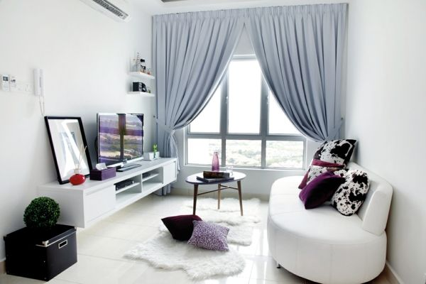 fenster mit stoff dekorieren. Black Bedroom Furniture Sets. Home Design Ideas